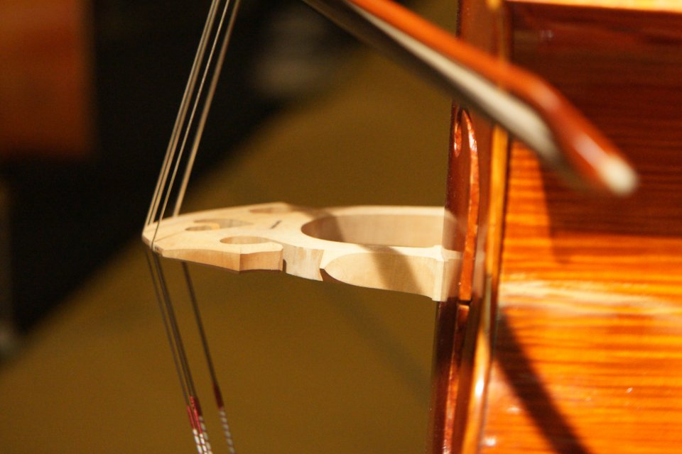Bow on double bass